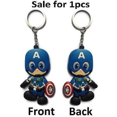 Captain America Figure Keychain