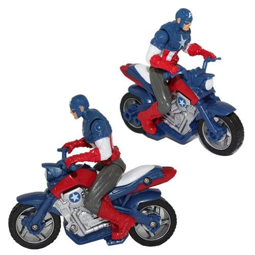 Captain America Avenger wth Bike Motorcycle Superhero PVC Action Figure