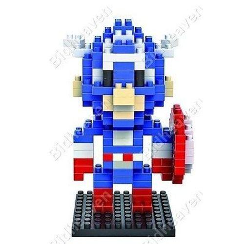 Captain America Figure Mini Nano Micro Building Block Brick - LOZ
