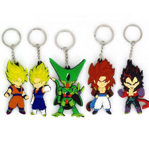 Dragon Ball Z Goku Super Saiyan Gogeta Vegeta Figure Key Ring Chain Keychain