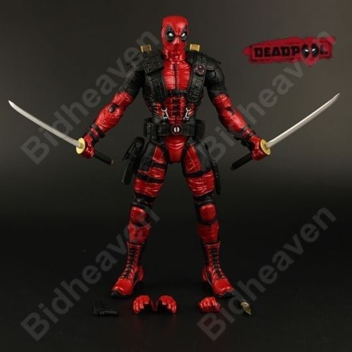 Deadpool Wade Wilson Action Figure - Fire Toy - 10 Inch