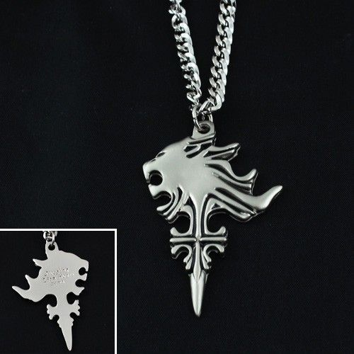 Final Fantasy VIII FF8 Sleeping Lion Head Pendant Necklace