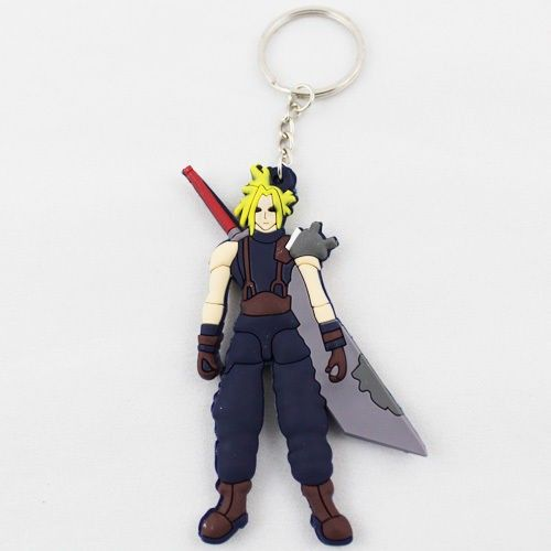 Final Fantasy Cloud Key Ring Chain Keychain KeyRing