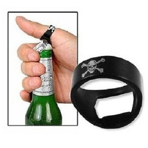 Novelty Finger Ring Skull Style Bottle Crown Opener