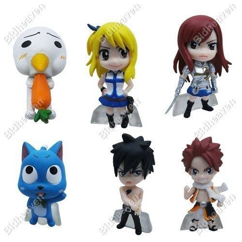 Fairy Tail Mini Action Figure Natsu Lucy Erza Gray Happy