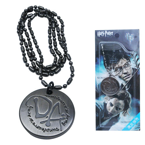 Harry Potter Dumbledore Army DA Logo Metal Round Necklace