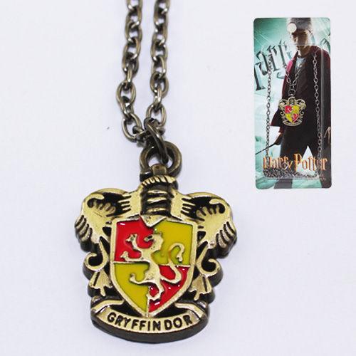 Harry Potter Gryffindor Black Metal Necklace