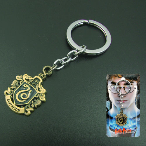 Harry Potter Slytherin Logo Metal Key Ring Chain Keychain