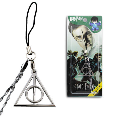 Harry Potter Deathly Hallow Logo Metal Cell Mobile Phone Strap Charm