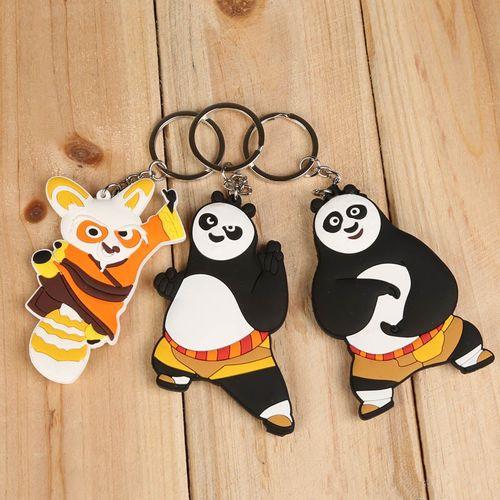 Kung Fu Panda 3 Po and Master Shifu PVC Figure Key Chains Ring Keychain Keyring - 3 Pcs Set
