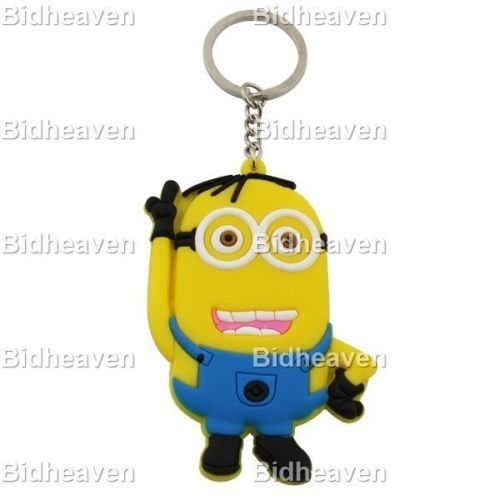 Despicable Me Minion PVC Figure Key Ring Chain Keychain Gift A4