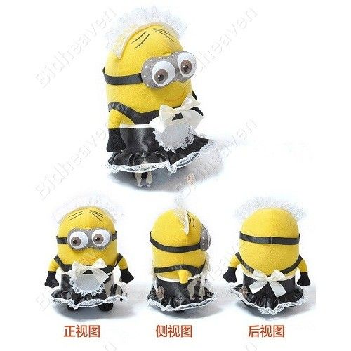 Despicable ME 2 Minions Phil Maid outfit Plush Doll