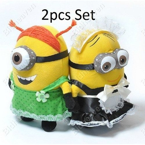 Despicable ME 2 Minions Phil Stuart Maid outfit Plush Doll