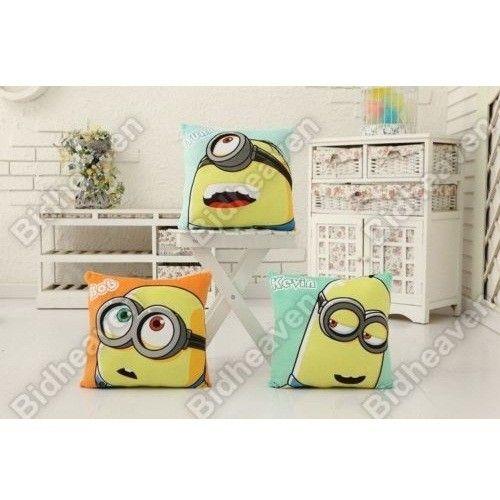 Despicable Me Minion Kevin Bob Stuart Plush Cushion Pillow for Car Sofa - 3pcs Set