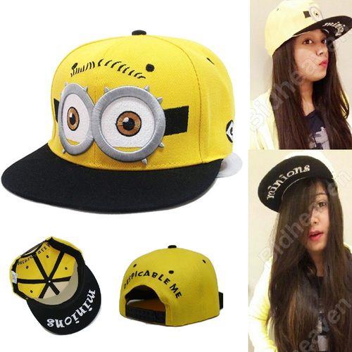 Despicable Me Minions Cartoon Baseball Sport Gorras Cap Hats & Caps - ADULT SIZE
