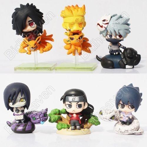 Naruto Shippuden Sasuke Madara Uchiha Kakashi Orochimaru Action Figure - 6 Pcs Set