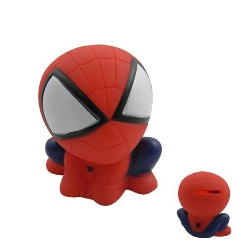 SPIDERMAN  Spider Man Figure Coin Piggy Bank