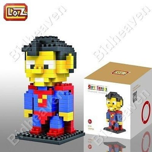 Superman Figure Mini Nano Micro Building DIY Block Brick - LOZ