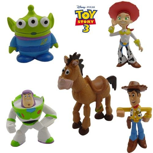 Toy Story Woody Buzz Lightyear Jessie Aliens Bullseye Action Figure (5pcs Set)