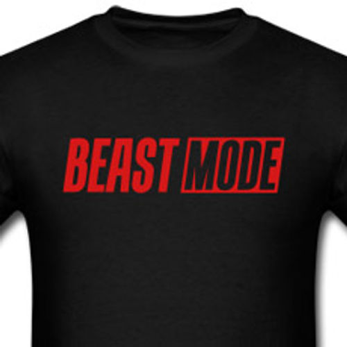 fd1785fe Beast Mode Black Motivational Gym T-shirt | Al29