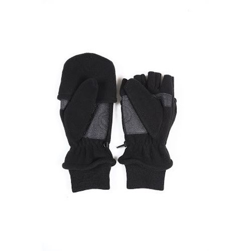 Hand Gloves Fleece Half cut with cover black