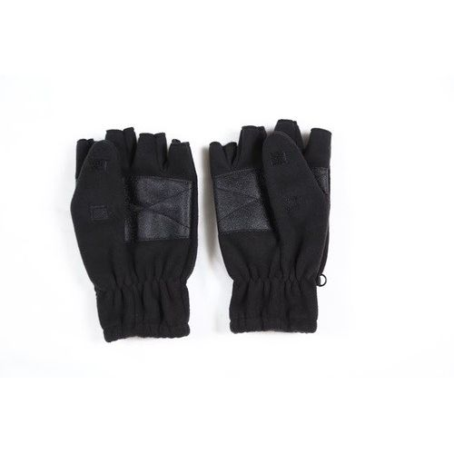 hand gloves fleece wind proof half black