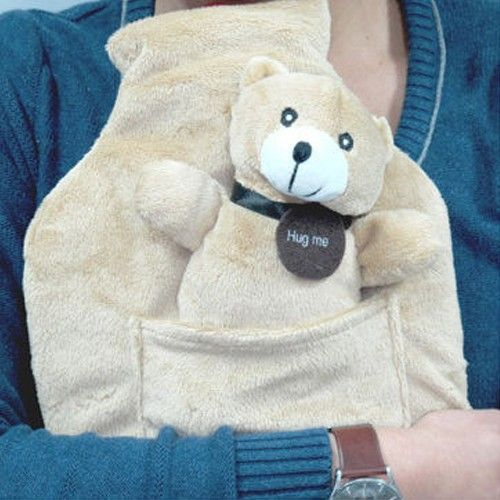 Teddy Bear Hot Bottle with Cover
