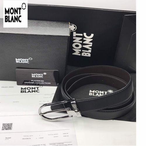 Replica Mont Blanc Office Leather Belt Replica Luxury