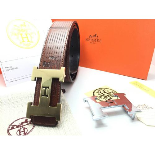 8269ffa255219 ... free shipping hermes double buckle leather belt f3098 7d401