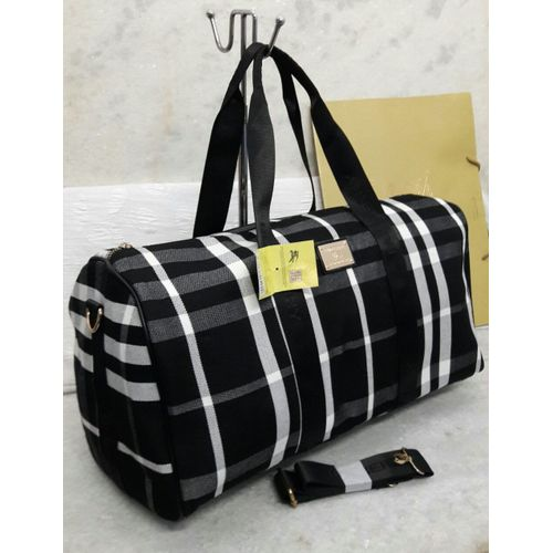 Burberry Black Check Duffle Bag