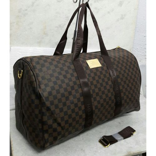 Louis Vuitton Brown Check Duffle Bag