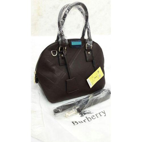 Burberry Dark Brown Leather Handbag