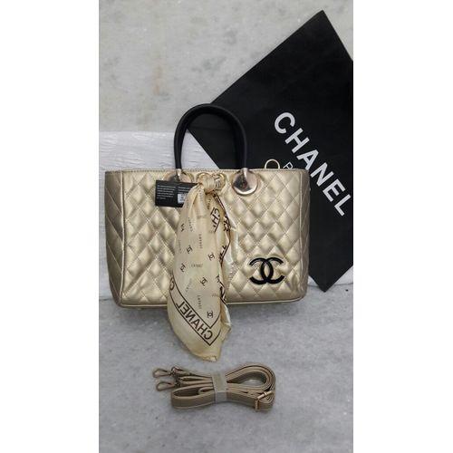 Chanel Golden Leather Handbag
