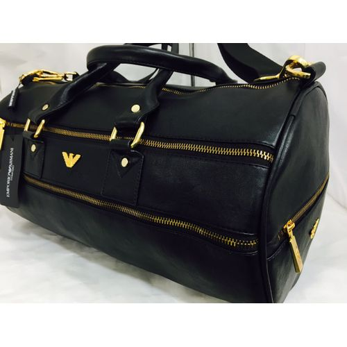 Emporio Armani Leather Duffel Bag