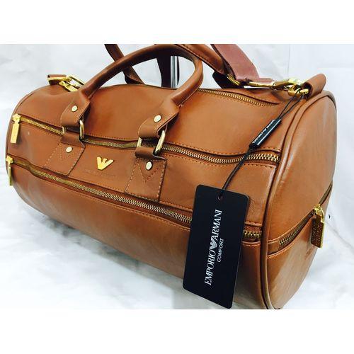 Emporio Armani Leather Duffel Bag