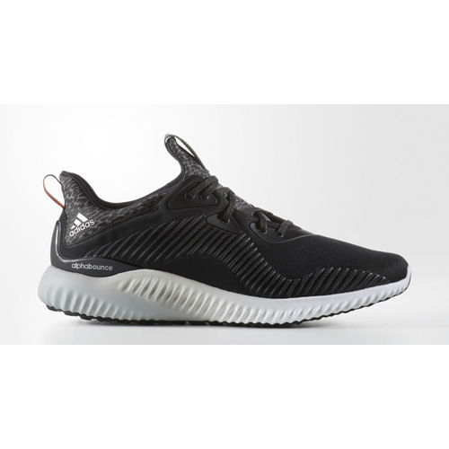 Adidas Alphabounce Black/Grey/Yellow Mens Running Shoes