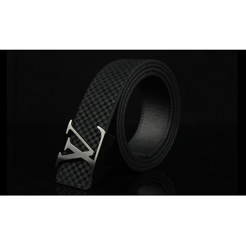 Louis Vuitton Silver Buckle Suede Belt