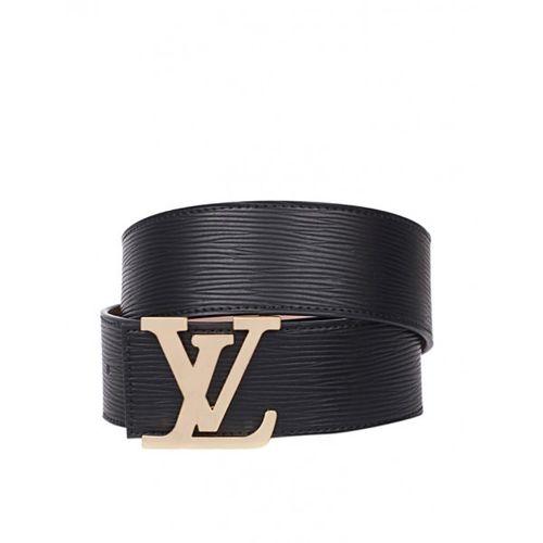 Louis Vuitton Initials Black Leather Belt