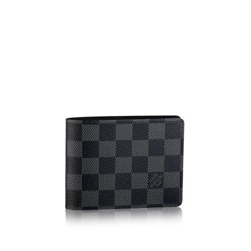 24b17156acb85 Replica LV Black Check Wallet