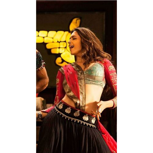 Fancy Designer Indian Black & Pink Ethnic Partywear Deepika Padukone Lehenga