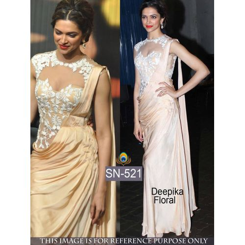 Deepika Floral Print Japan Silk Bollywood Saree