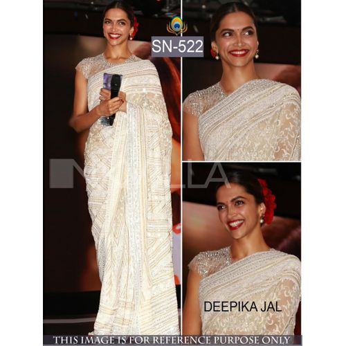 Deepika Heavy Work Georgette Bollywood Saree