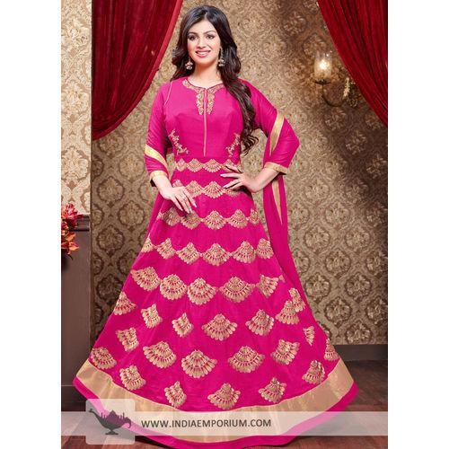 Ayesha Magenta Georgette Heavy Embroidery Anarkali Suit