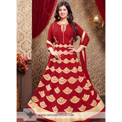 Ayesha Red Georgette Anarkali Suit