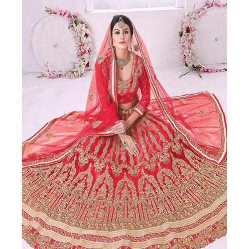 Bridal Red Panel Style Lehenga Choli