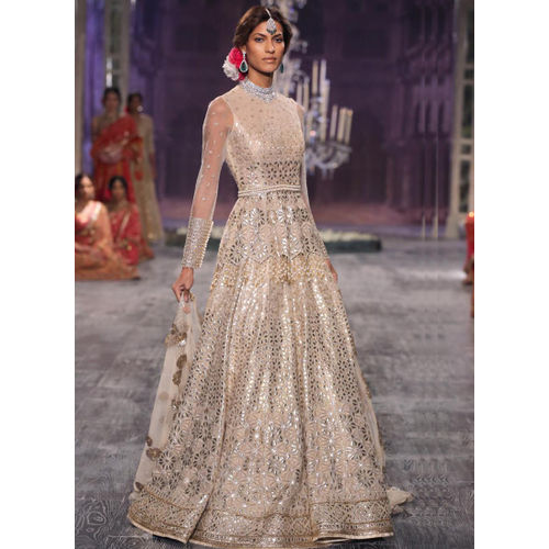 Long Gown Anakali Style with full length Sleeve & Dupatta