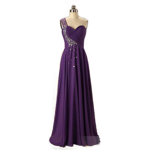 Violet Stunning Gown with Stone Work