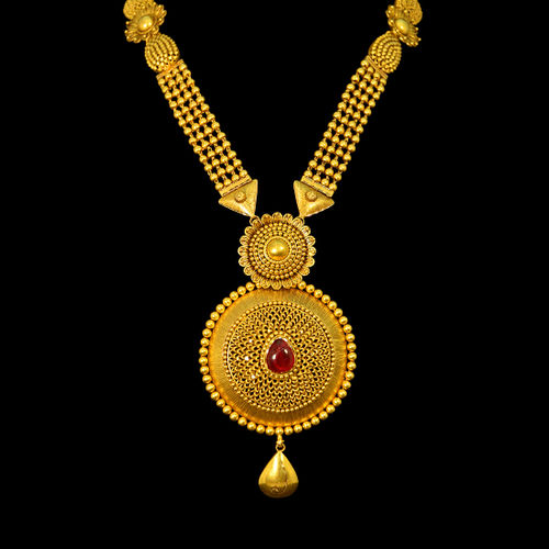 Semi Antique Aaram studded with uncut Ruby.
