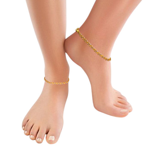 heart views anklet layer gold gram jewelry anklets online plated zircon real sweet women platinum double