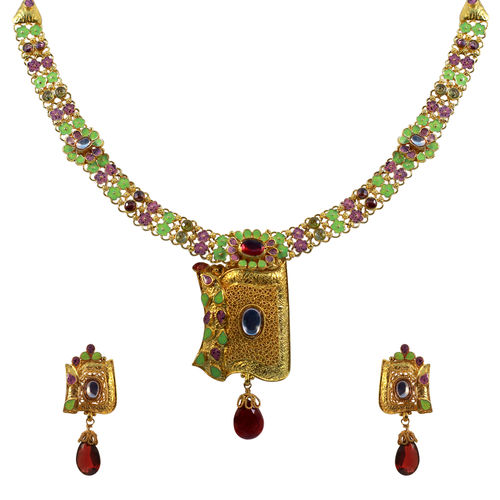 Enamaled fancy necklace